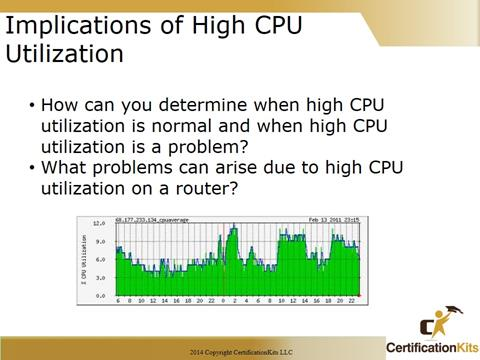 Cisco CCNA Troubleshooting CPU Utilization