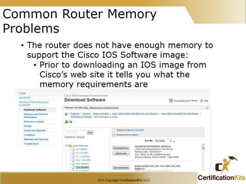 Cisco CCNA Troubleshooting Memory