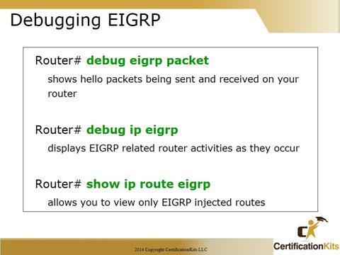 Cisco CCNA Troubleshooting Debug EIGRP