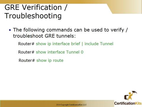 Cisco CCNA GRE Verification