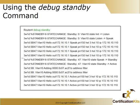 Cisco CCNA Troubleshooting HRSP Debug