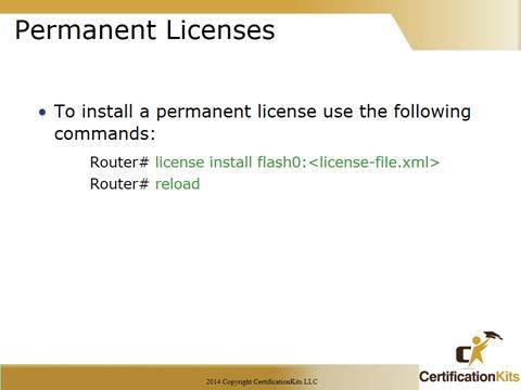 Cisco CCNA Permanent Licenses