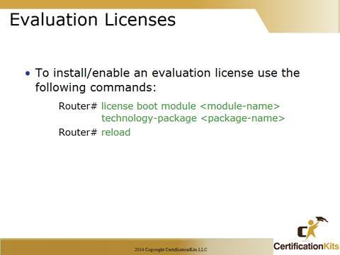 Cisco CCNA Evaluation Licenses