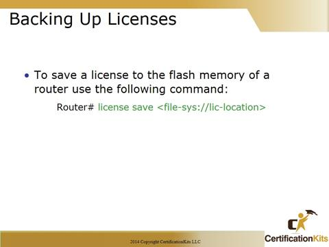 Cisco CCNA Backup Licenses