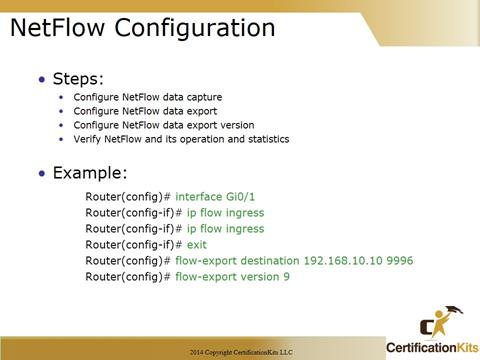 Cisco CCNA Netflow Configuration