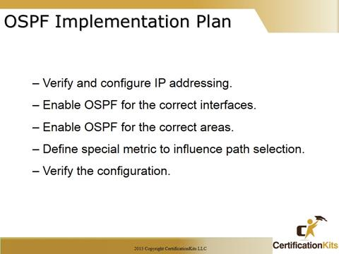 Cisco CCNA OSPF Implementation