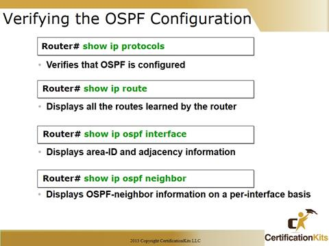Cisco CCNA OSPF Configuration