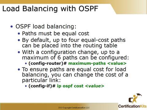 Cisco CCNA OSPF Load Balancing