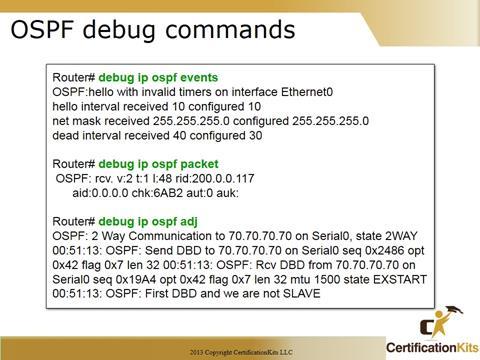 Cisco CCNA OSPF Debug