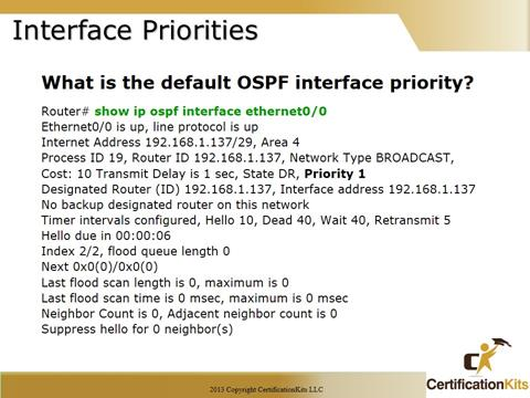 Cisco CCNA OSPF Priorities