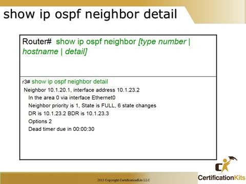 Cisco CCNA OSPF Neighbor Detail