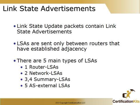 Cisco CCNA OSPF LSA