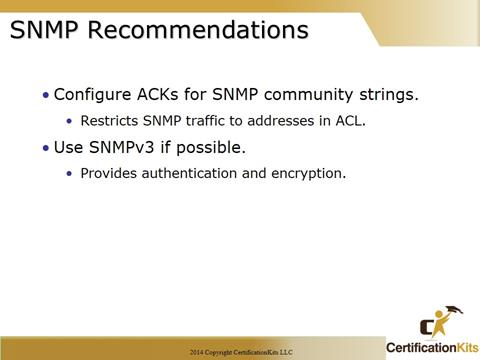 Cisco CCNA SNMP Recommendations