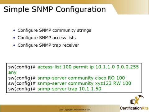 Cisco CCNA SNMP Configuration