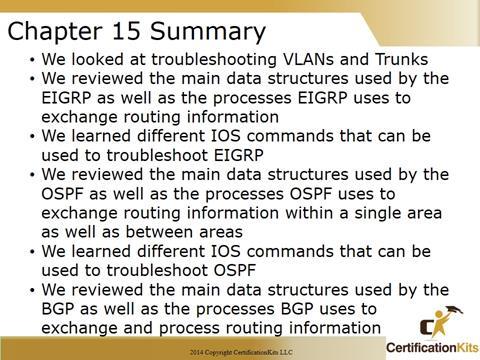 Cisco CCNA Troubleshooting Summary
