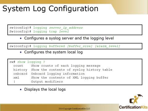 Cisco CCNA Syslog Configuration