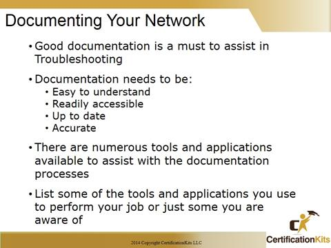Cisco CCNA Documenting Your Network
