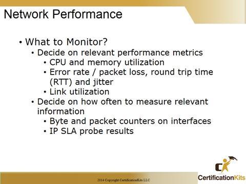 Cisco CCNA Network Performance