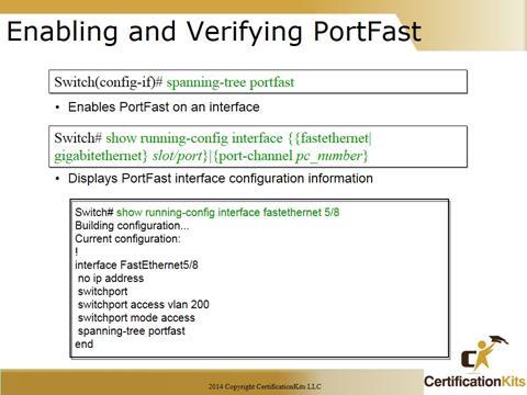 Cisco CCNA Tshoot PortFast