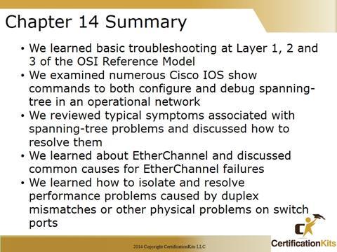 Cisco CCNA Tshoot Summary