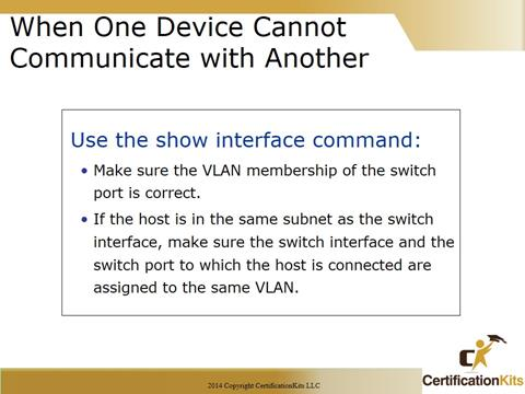 Cisco CCNA TShoot Communications