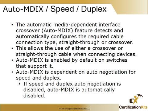 Cisco CCNA Speed - Duplex