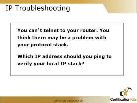 Cisco CCNA IP Troubleshooting
