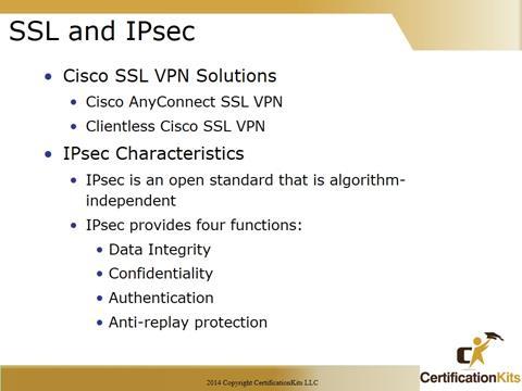 Cisco CCNA SSL and IPSec Protocols