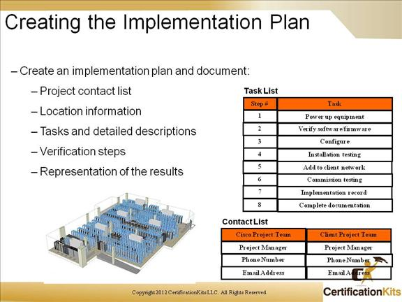 creating a project plan template - cisco ccnp route planning routing services