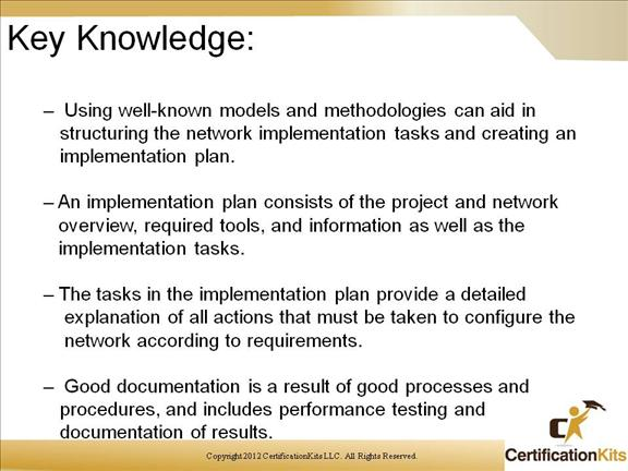 Early Planning Used To Create A Well Thought Out Implementation Plan Is Key Successful Network As Always Good Documentation Must