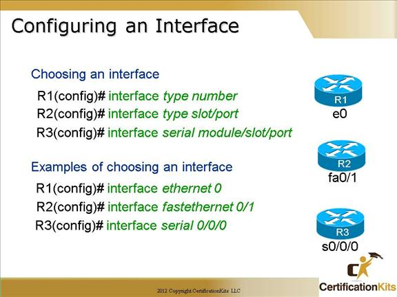 Cisco CCNA Configuring Router Interfaces – CertificationKits com